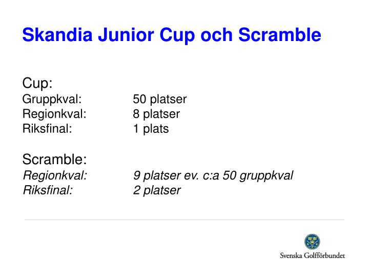 Skandia Junior Cup och Scramble