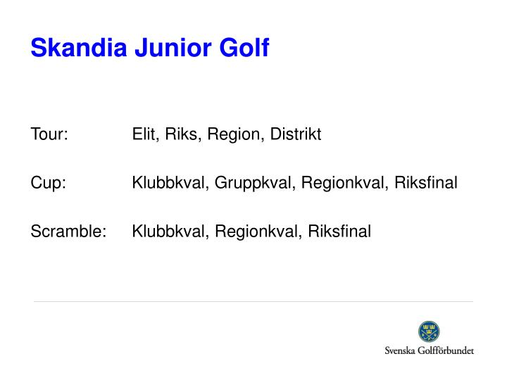 Skandia Junior Golf