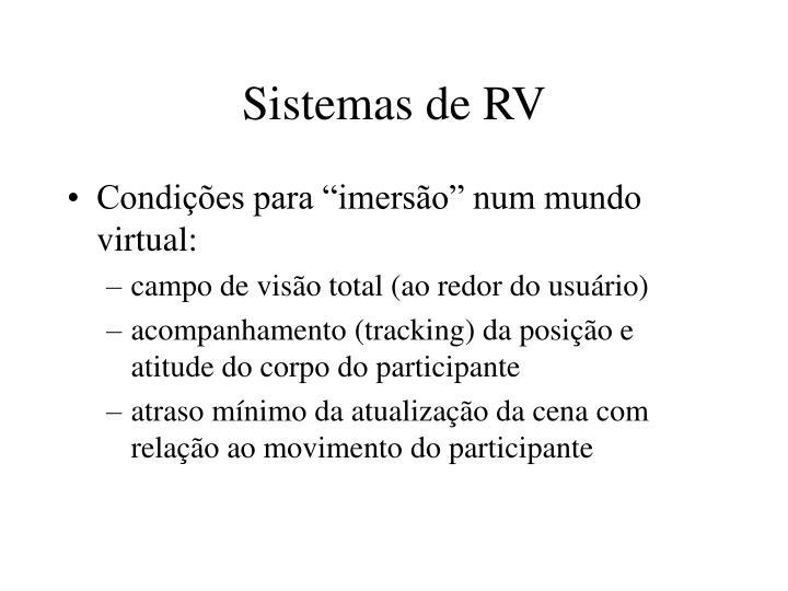 Sistemas de RV