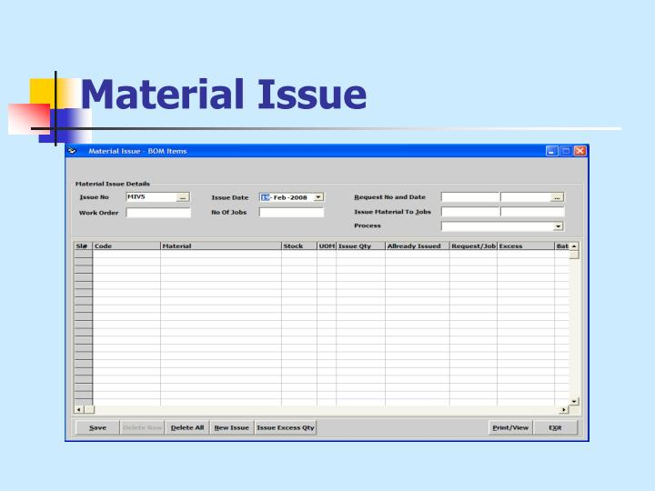 Material Issue