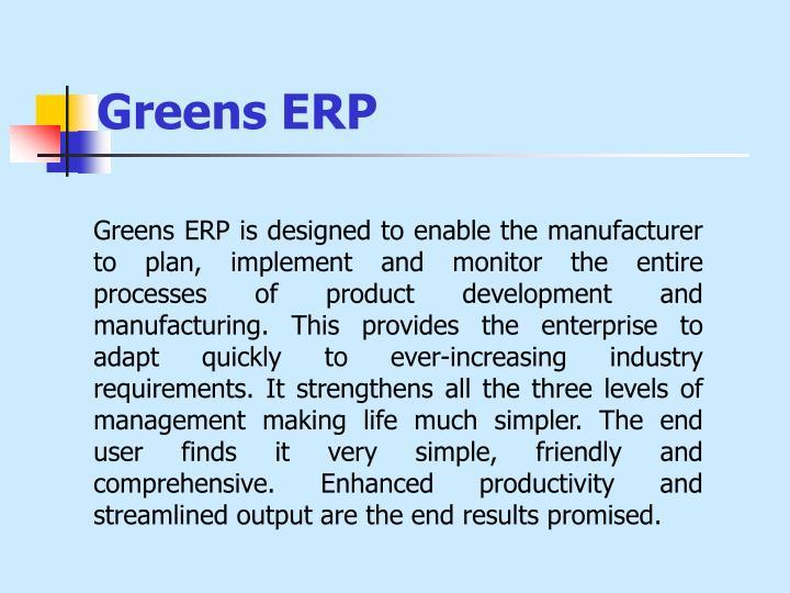 Greens ERP