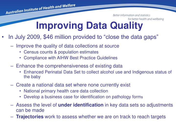 Improving Data Quality