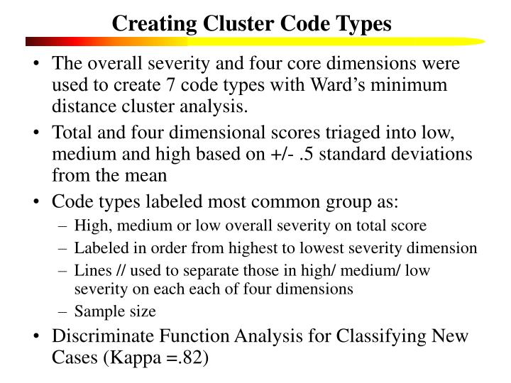 Creating Cluster Code Types