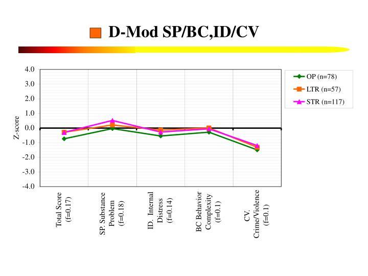 D-Mod SP/BC,ID/CV
