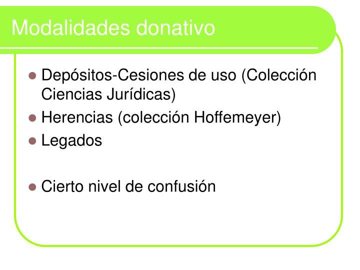 Modalidades donativo