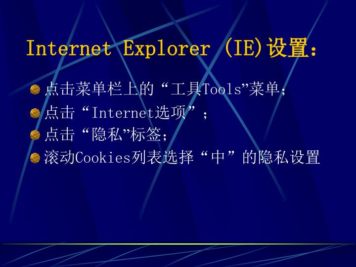 Internet Explorer (IE)