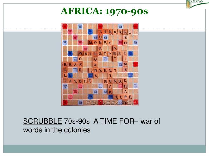 AFRICA: 1970-90s