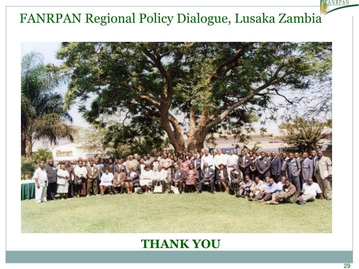 FANRPAN Regional Policy Dialogue, Lusaka Zambia