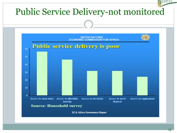 Public Service Delivery-not monitored