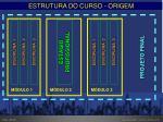 estrutura do curso origem