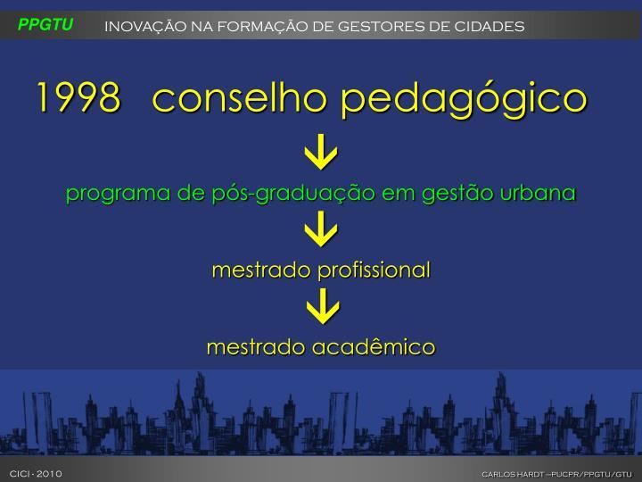 1998conselho pedagógico