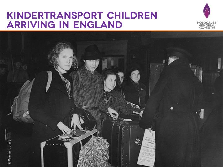 Kindertransport children arriving in England
