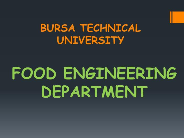 BURSA TECHNICAL UNIVERSITY