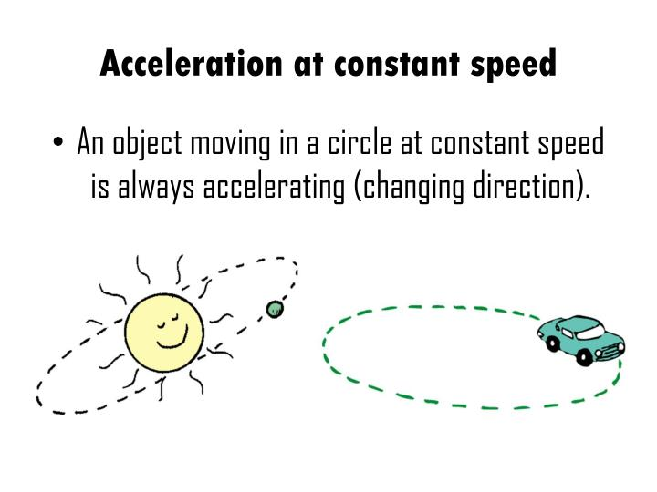 Acceleration at constant speed