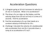 acceleration questions