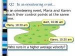 q2 in an orienteering event
