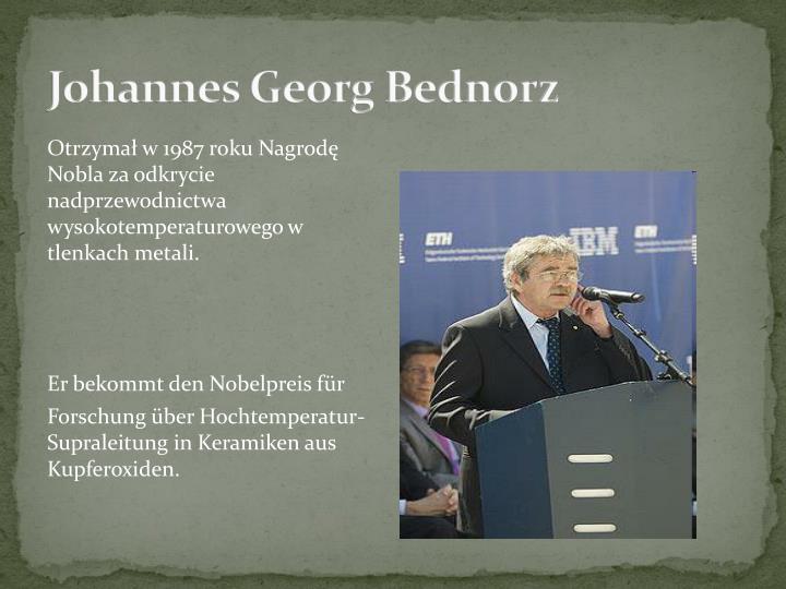 Johannes Georg Bednorz