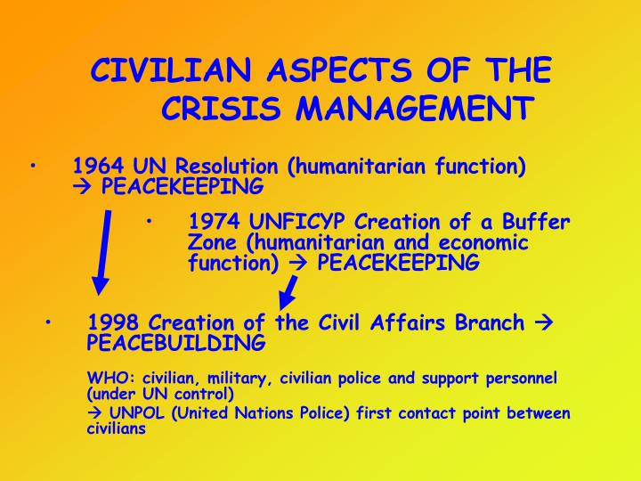 CIVILIAN ASPECTS OF THE CRISIS MANAGEMENT