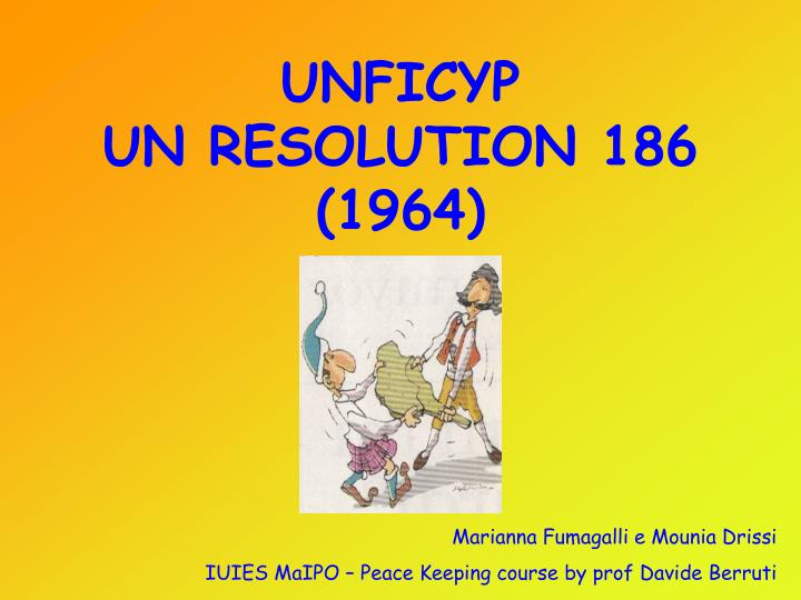 Unficyp un resolution 186 1964