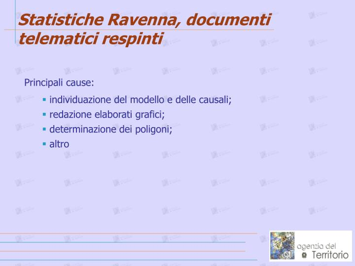 Statistiche Ravenna, documenti