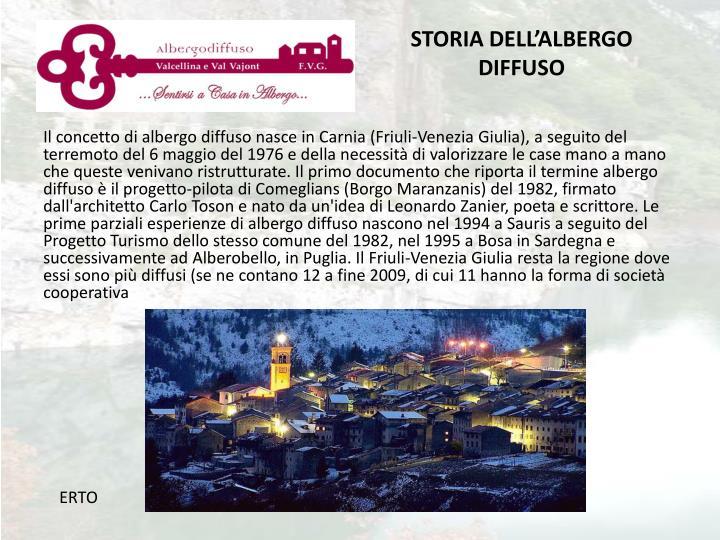 STORIA DELL'ALBERGO DIFFUSO