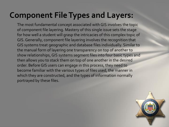 Component File Types and Layers: