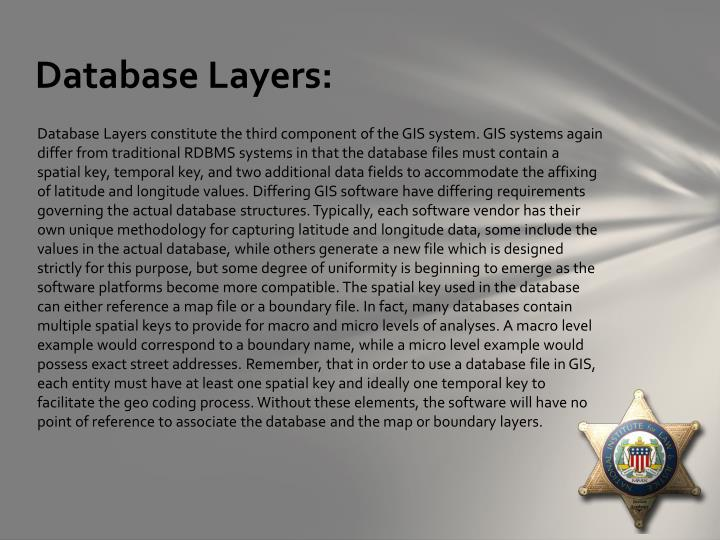 Database Layers: