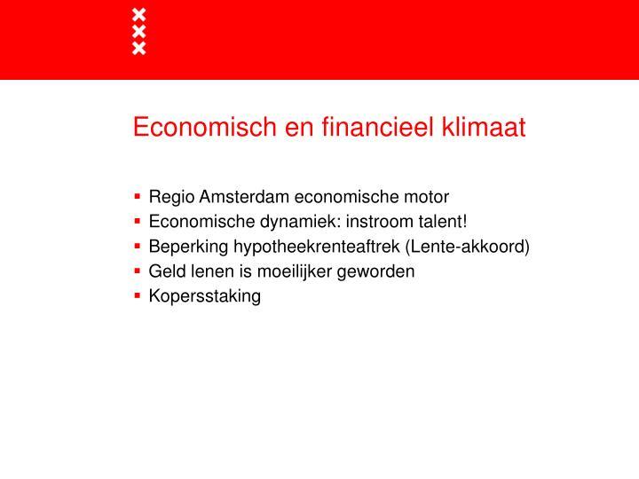 Economisch en financieel klimaat
