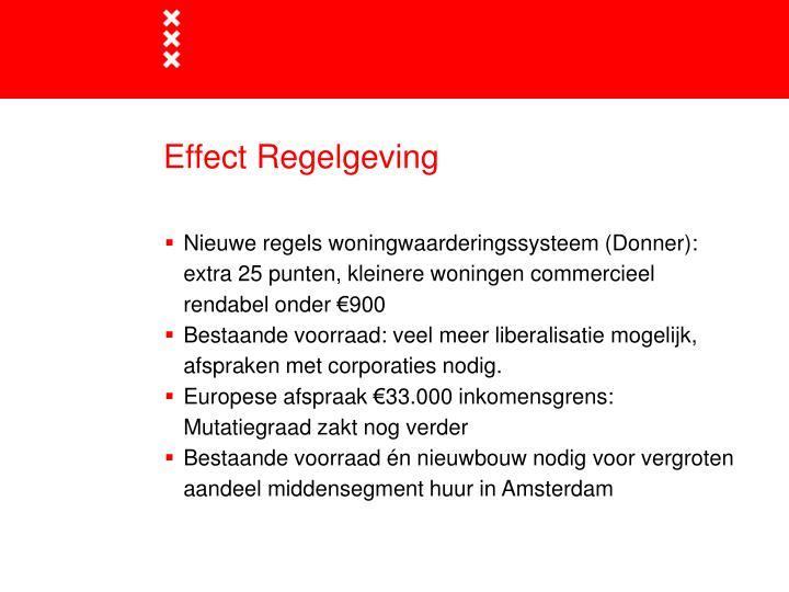 Effect Regelgeving