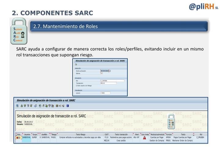 2. COMPONENTES SARC