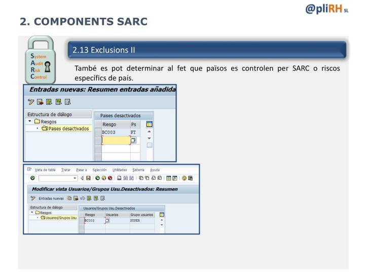 2. COMPONENTS SARC