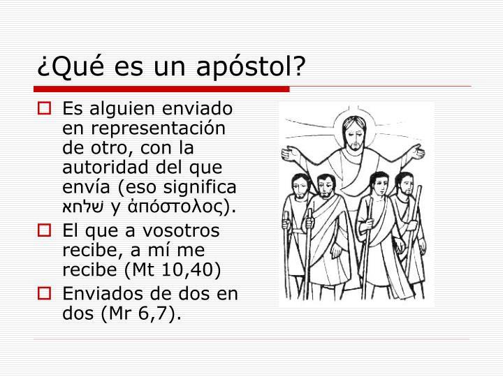 ¿Qué es un apóstol?