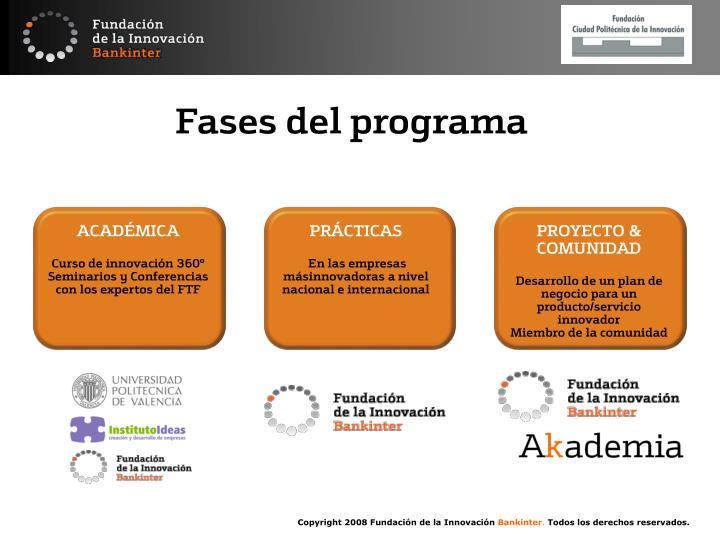 Fases del programa