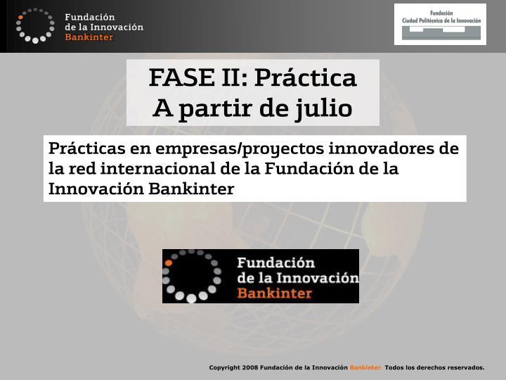 FASE II: Práctica