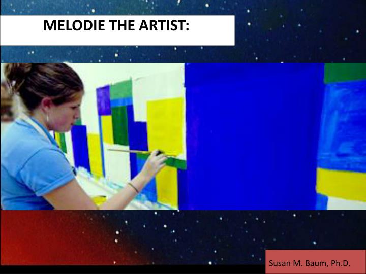 MELODIE THE ARTIST: