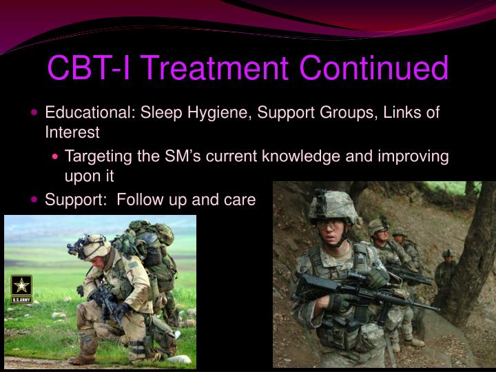 CBT-I Treatment Continued