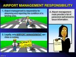 airport management responsibility
