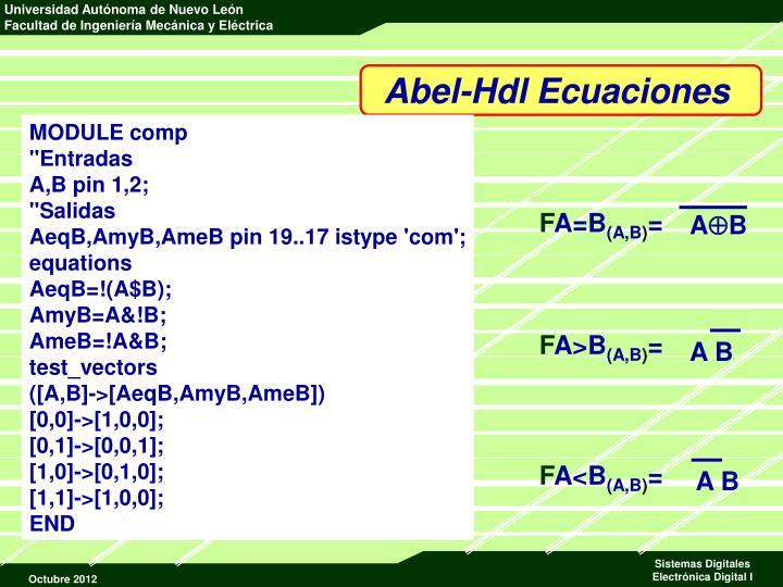 Abel-Hdl Ecuaciones