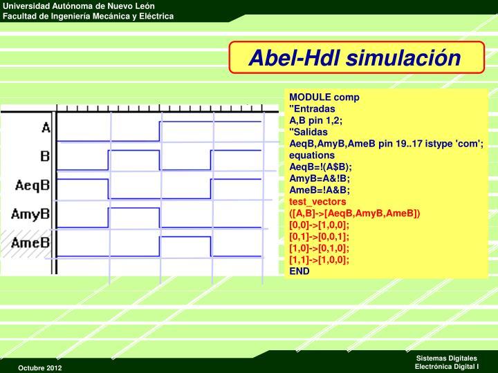 Abel-Hdl simulación