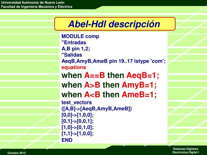 Abel-Hdl descripción