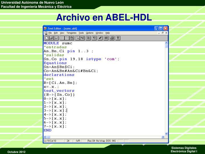 Archivo en ABEL-HDL
