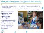 efekty dzia ania programu przygotowanie dzieci do edukacji