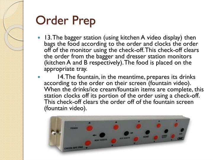 Order Prep
