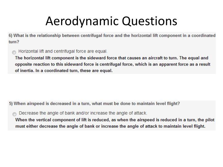 Aerodynamic Questions