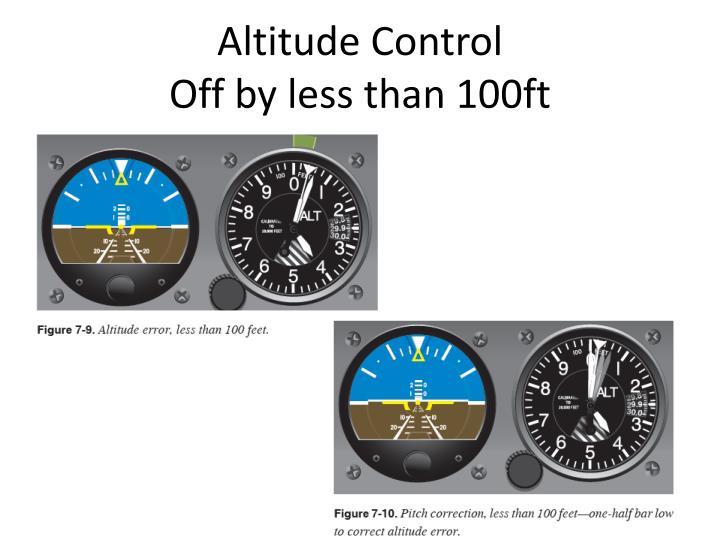 Altitude Control