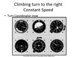 climbing turn to the right constant speed