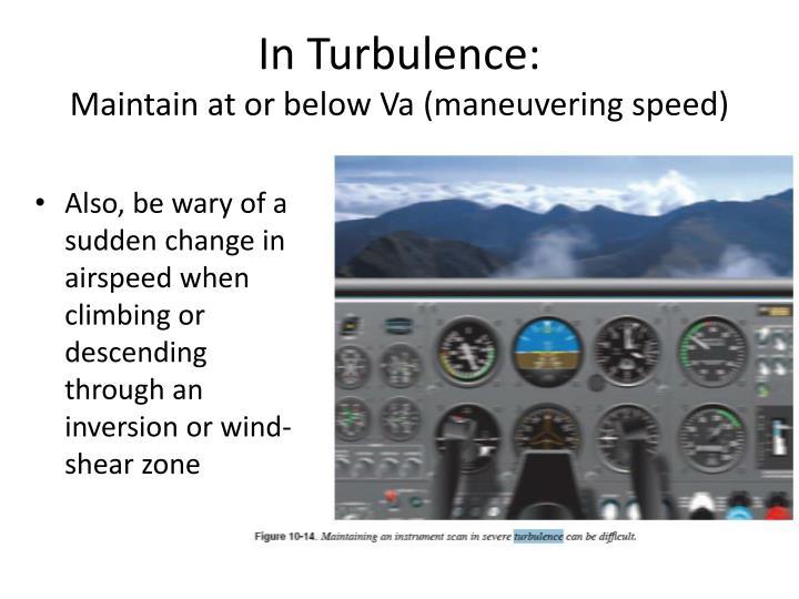 In Turbulence: