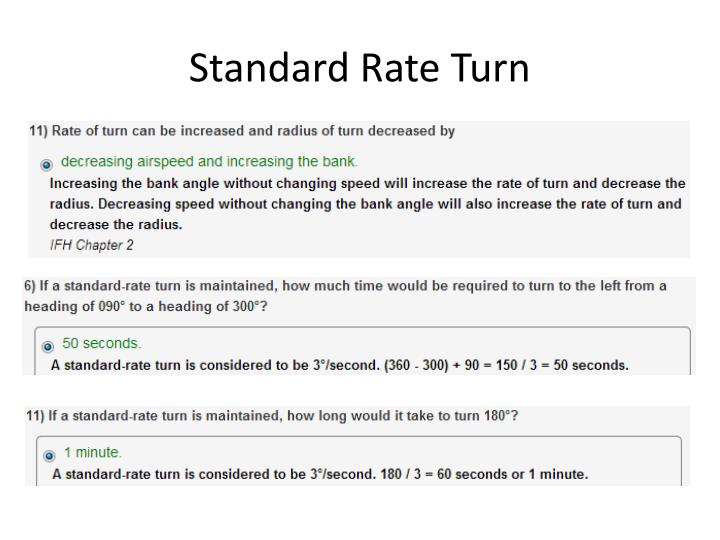 Standard Rate Turn