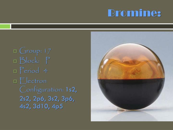 Bromine: