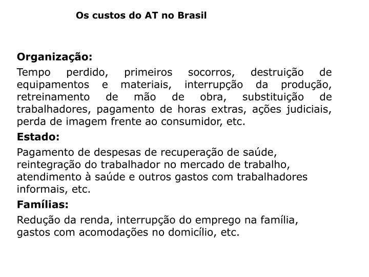 Os custos do AT no Brasil